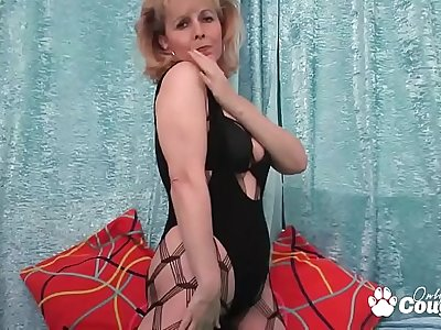 Grandma Puts On A Sexy Striptease In Naughty Lingerie