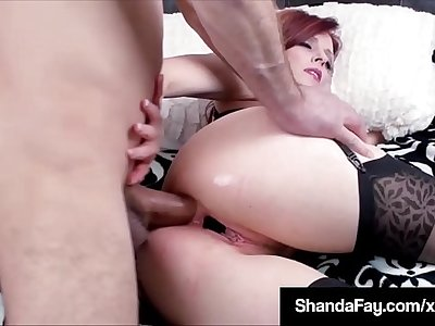 Sexy Wife Shanda Fay Stuffs Her Pussy & Asshole With Panties