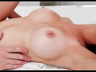 PureMature - Busty mature Colette Adams gets fucked after massage