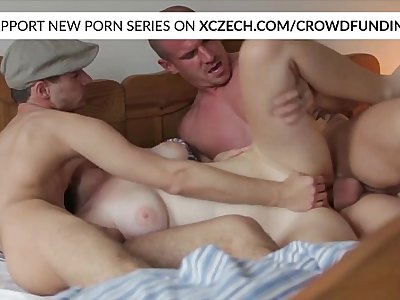 Titty czech girl is fucked by big dicks