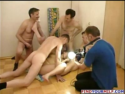 group of horny Russians making homemade porn video