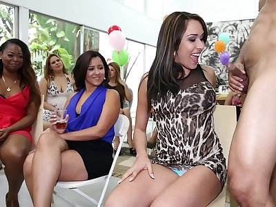 DANCING BEAR - Surprise CFNM Cock Party For These Horny Ladies!