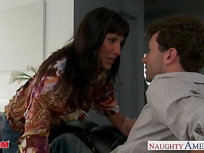 Brunette mom Lezley Zen take cock